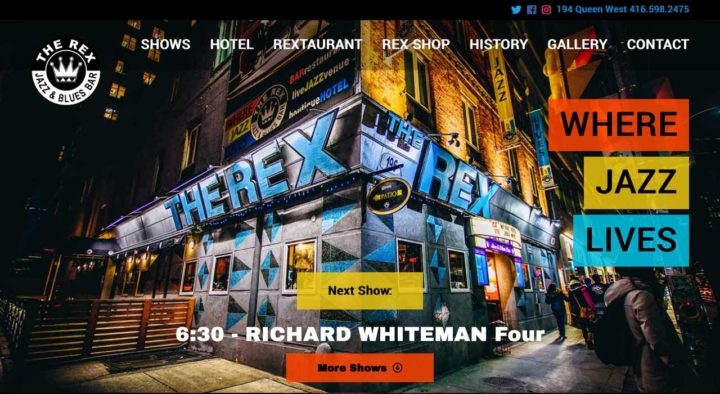 the rex hotel website redesign custom wordpress vancouver island