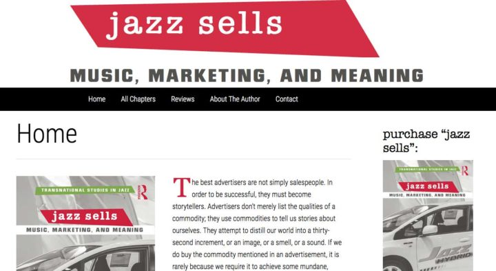 Jazz Sells Website screenshot WordPress